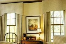 Cornices / Cornices are made of wood and covered with fabric. A nice window treatment or valance.