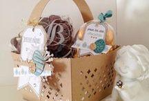 Paniers et sacs #4enSCRAP / Les créations de l'Equipe Créative