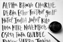 typography + hand lettering / Gorgeous calligraphy, hand lettering, and typography.