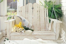 Porch Swings / Porch swings are so fun! Make your own with tons of options! Love a good DIY project! / by Lolly Jane {lollyjane.com}