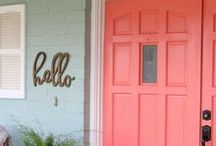 a-DOOR-able / All things DOOR related. We love a good vintage, chippy door. Cute doors AND uses for old ones!