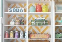 Craft Spaces / Our most used room in the house! (Other than the laundry room, am I right?!) Make it pretty while you make pretty things! Lots of organizational ideas as well as inspirational pics of well put together craft rooms and office spaces.