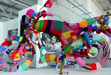 Yarn bombed / Everything covered in wool