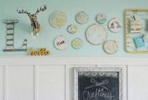 Craft: Embroidery Hoops / Inexpensive embroidery hoop ideas!
