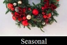 Seasonal Design - UNICO DECOR INC / From Christmas tree to outdoor planter, will ensure the decor of your home or office create a welcoming impression to you and your guests. Happy Pinning!  / by Unico Decor Inc.