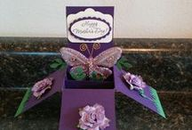 Card In A Box / Cute Ideas for Birthday, Holiday, Wedding, cards in a box.  Detailed Instructions.