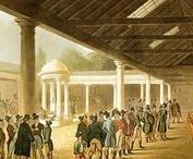 Tatersall's in the Regency / Tatersall's -- the place in London for buying and selling horses during the Regency.