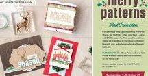 Merry Patterns Stampin' Up! / Place an order of $300 or more and receive the Merry Patterns Stamp Set for FREE along with your Stampin' Rewards.  Offer begins September 1, 2017 and goes through October 31, 2017