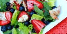 Food: Salad / So many salad recipe ideas! Fruit salad, pasta salad, green salad, we've got you covered!