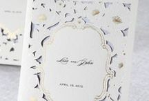 Laser Cut Invitations / High quality Wedding Invitations using laser cutting technology / by B Wedding Invitations