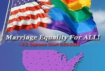 Marriage Equality / Marriage Equality, or as it is sometimes called - Gay Marriage, Same-Sex Marriage or simply Marriage. The legalities of who has a right to get married and the definition of marriage is the Civil Rights issue of our time. It affects LGBT peoples & their families worldwide on local, state & Federal levels. From the Defense of Marriage Act (DOMA), civil unions, domestic partnerships, civil partnerships, reciprocal beneficiary rights to commitment ceremonies - marriage discrimination continues.