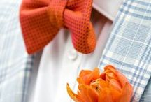 Orange + Coral Weddings / Orange, coral, tangerine, and peach wedding details and decor