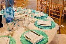 Aqua + Tiffany Blue Weddings / Aqua and Tiffany blue wedding details and decor