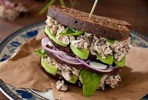 Sandwiches / Sandwich recipes - kicked up grilled cheese sandwiches, BLTs, tuna salad sandwiches, egg salad sandwiches, ham and cheese sandwiches, reubens, paninis, patty melts, wraps, subs, hoagies, and grinders. ♥~~~~ Unless noted - each pin should link to a sandwich recipe. If you find one that has a broken link - please leave a comment and I'll pull it! Thank you for your help! ~~~~♥