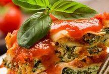 Pasta / Pasta Recipes - Homemade Fettuccine, ravioli, gnocchi, and egg noodles. Lasagna, Fettuccine Alfredo, Linguine, Thai Noodles, Macaroni and Cheese, Spaghetti and Meatballs, Soba Noodles, Orecchiette, Stuffed Pasta Shells, Stuffed Rigatoni, Farfalle, and Tagliatelle. ♥~~~~ If you are looking for Pasta Sauces / Pestos please see our Pinterst Board: Sauce Recipes. For Pasta Salads and Casseroles  please see our Pinterest Boards: Salad Recipes and Casserole Recipes. ~~~~♥