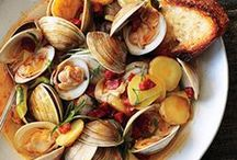 Seafood / Seafood recipes including paella, crab cakes, fish tacos, lobster, salmon, clams, shrimp, rock shrimp, prawns, crab, oysters, mussels, sword fish, tuna, tilapia, and scallops. For more seafood salad, seafood soup and seafood pasta recipe ideas please visit our Pinterest Boards: Salad Recipes, Pasta Recipes, and Soup Recipes. ♥~~~~ Unless noted each pin should link to a seafood recipe. If you find one that has a broken link - please leave a comment and I'll pull it! Thank you for your help! ~~~~♥