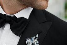 Black + White Weddings / Black wedding details / by EnGAYged Weddings