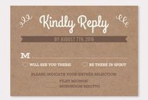 RSVP Cards / by B Wedding Invitations