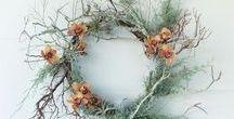 Floral Wreaths | Gekränztes / Floral wreaths. Summer wreaths, winter wreaths, autumn wreaths, spring wreaths.