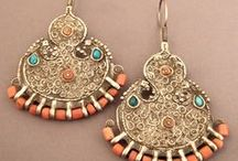 EJ | Central Asia | Earrings / Pinterest classification of this region || Afghanistan, Kazakhstan, Kyrgyzstan, Tajikistan, Turkmenistan and Uzbekistan.  ||  Jewellery pieces where earrings and necklace offer a complete set, please refer to the Central Asian Necklace board. / by Monika Ettlin