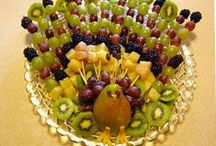 Fruit Displays / Fruit, fruit, fruit and pretty ways of displaying it for receptions