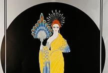 """ART DECO ~ ca.1920 - Early 1940's / Art Deco ~ 1920- ca.1940's.  Historian Bevis Hillier defined Art Deco as """"an assertively modern style [that] ran to symmetry rather than asymmetry, and to the rectilinear rather than the curvilinear; it responded to the demands of the machine and ...of mass production"""".[2] To many, Art Deco represented  faith in social and technological progress. (paraphrased - wikipedia) / by Violet Shimer Love"""