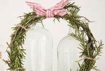 Natural Christmas I ~ Christmas Board 6 / Natural Wreaths, Centerpieces, Scents, Ornaments, etc. / by Violet Shimer Love