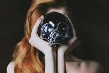 Skullduggery / 'Alas, poor Yorick! I knew him, Horatio, a fellow of infinite jest, of most excellent fancy. He hath bore me on his back a thousand times, and now how abhorr'd in my imagination it is! My gorge rises at it.'  William Shakespeare. / by Pamela Strauss