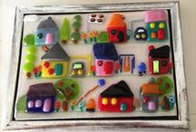 Fused glass - made bye me !  / Fused glass / by Sanne Jacobsen