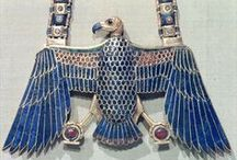 Ancient Egypt ~ Jewelry of the Pharaohs / Ancient jewelry artifacts of the Pharaohs, their families and high ranking officials. / by Violet Shimer Love