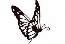 Art-Drawing Birds, Butterflies