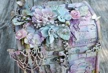 Altered Boxes / All things trinket! From making embellshments, to placement. Oh the adornments!