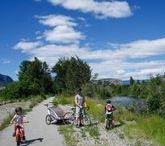 BIKING WITH KIDS / Biking with kids.