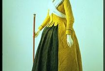 18th century : Quilted Ensemble & Quilted Dress