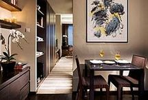 Apartment/ Flat Dining Room Ideas / Dining room design ideas for apartments and flats - a challenging yet rewarding interior to decorate.