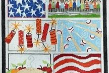 Patriotic Needlepoint / Needlepoint with a patriotic flair. USA needlepoint, stars and stripes, July 4th, everything American.