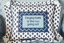 "Needlepoint Signs & Sayings! / From sassy to sincere--we have needlepoint to ""express yourself."""