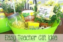 Teacher Gifts and School / These are great ideas my many teacher friends find fabulous ~ they are creative creatures =) And also all kinds of ideas to help you shower your thanks to your teachers all year long. / by Molly Hayden Gold