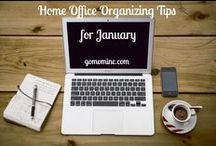 Home Office Organizing Tips / Organizing Tips with pictures and posts of all kinds of home office design and organization solutions.  Shared space, converted closets, kitchen niches, and desks mixed into other decor, this board is full of clever ideas to help you create the best home office for your needs. / by Molly Hayden Gold