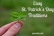 St. Patrick's Day / All things green, good luck, gold coins, rainbow, pot of gold, leprechauns, and more!