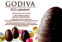 Our Egg-spiration!  / Share the Egg-spiration! behind your favorite Easter Eggs with our GODIVA Egg-spiration! Pinterest Promotion for a chance to win a sweet Easter prize. Visit our Facebook tab, Egg-spiration! to sign up and get crackin'