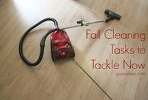 Fall Cleaning Tips / Tips to help busy Moms stay on top of all those Fall cleaning chores!