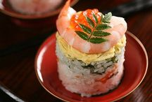Food . Rice and sushi