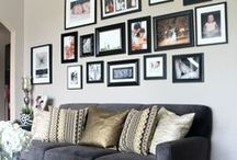 GALLERY WALLS GALORE / An eclectic mix of wall art, photo displays & other wall hangings beautifully hung in a variety of inspiring arrangements.