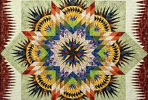 Prairie Star / For more information about the Prairie Star pattern, visit http://www.quiltworx.com/patterns/prairie-star/.  To be taken directly back to this pattern page on Quiltworx.com, simply click on any of the images below.  / by Quiltworx Judy Niemeyer