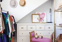 Closet & Vanity / I like my money where I can see it- hanging in my closet. / by Krislin