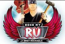 Rock My RV with Bret Michaels / Bret Michaels is passionate about RVs. Bret has spent 9 months out of the year in a tour bus that he personally designed from top to bottom.  Michaels spent his childhood taking road trips in his family's Winnebago, and understands just what these vehicles mean to their owners. In Rock My RV, Bret wants to give people the chance to experience the fun of the open road in a customized, tricked-out RV of their very own.