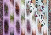 Garden Wall / For more information about the Garden Wall pattern, visit http://www.quiltworx.com/patterns/garden-wall/. To be taken directly back to this pattern page on Quiltworx.com, simply click on any of the images below.  / by Quiltworx Judy Niemeyer