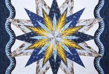 Lumina Feathered Star / For more information about the Lumina Feathered Star pattern, visit http://www.quiltworx.com/patterns/lumina-feathered-star/. To be taken directly back to this pattern page on Quiltworx.com, simply click on any of the images below.  / by Quiltworx Judy Niemeyer