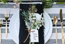 TABLESCAPES & ENTERTAINING / Beautiful tablescapes, place settings and table decorating ideas for all occasions!